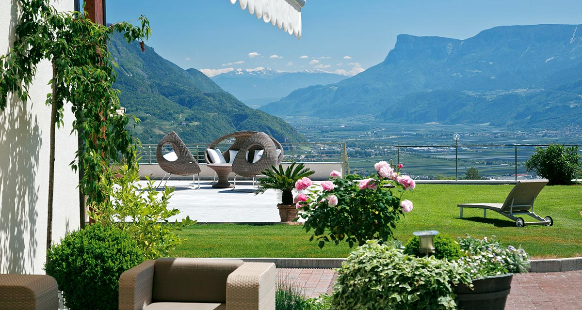 Panorama terrace in the Hotel Beatenhof, Dorf Tirol